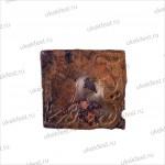 Пластина медная с изображением кошачьего хищника.
