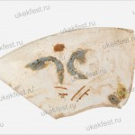 Фрагмент стеклянного сосуда со следами позолоты и эмали.